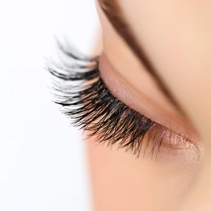 Upper lid eyelash extensions