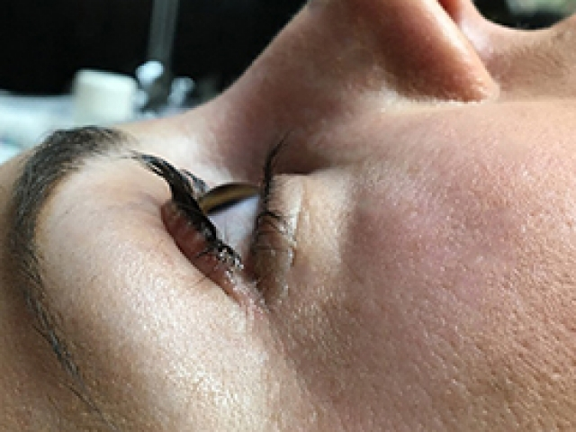 YUMI Lash lift. View from the side.