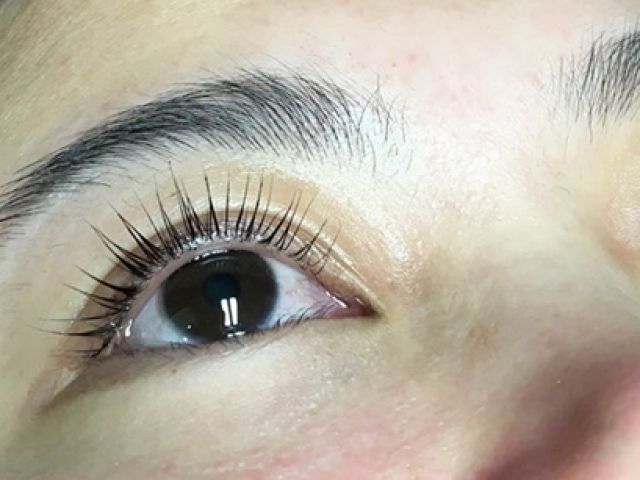YUMI Lash Lift. Front view. Both eyes