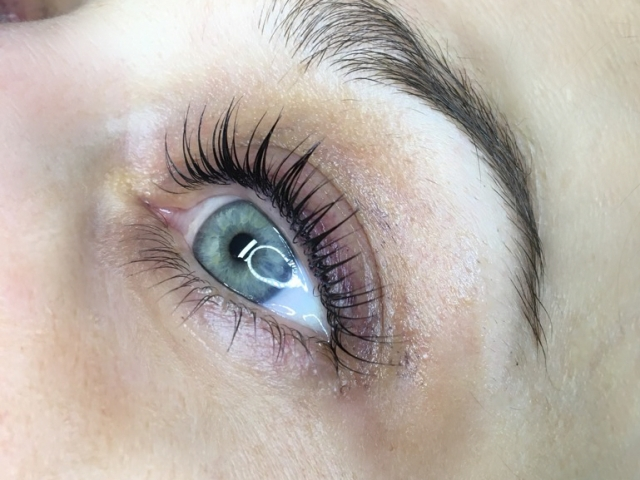 Yumi lash lift. Close view. Left eye