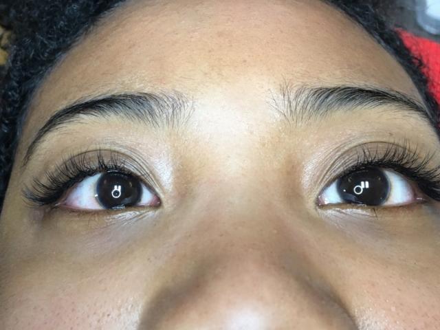 Classic eyelashextensions. Front prospective
