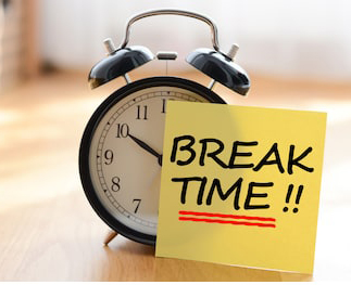 "alt="" Time for a break"""